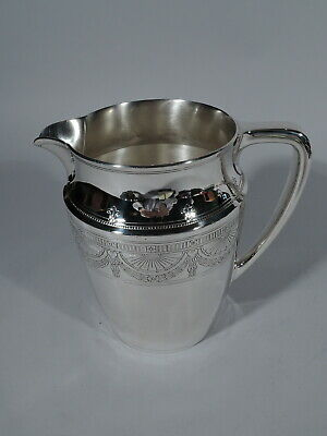 Tiffany Water Pitcher - 20211B - Antique Regency - American Sterling SIlver