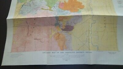 1918 GEOLOGIC MAP of the Yerington District NEVADA  Geology Mining   Lithograph