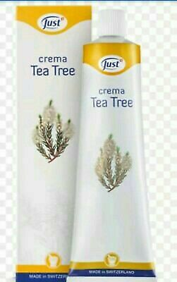 Crema tea tree just originale da 100ML per brufoli psoriasi dermatiti  eczema