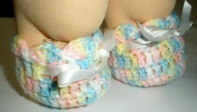 """Cabbage Patch Kid/My Child 16"""" doll multi colour booties/shoe ribbon tie"""