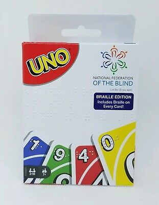 UNO Card Game Braille Edition National Federation of The Blind
