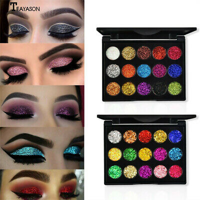 Pearl Shimmer Glitter Eye Shadow Powder Eyeshadow Cosmetic Makeup 15 Colors