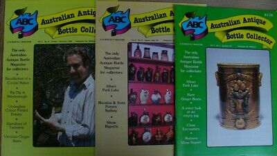 3 Australian Antique Bottle Collector Magazines 1983
