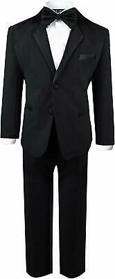 Gino Giovanni Black USA Size 2T Toddler Boy's Modern Fit Tuxedo Suit $48- #137
