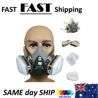 3M 6200 Premium Half Face Spray Paint Dust Mask Respirator Filter 7 in 1 Durable