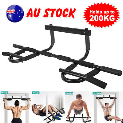 Gym Workout Wall Mounted Fitness Exercise Power Station Pull Chin Up Bar Doorway