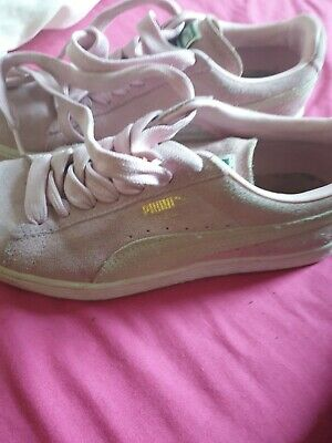 Details about PUMA Elsu v2 Pink Canvas Ladies Shoes sizes UK 5 and UK 6