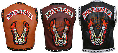 The Warriors Movie Leather Vest Jacket Motorcycle/Bike Riders Costume