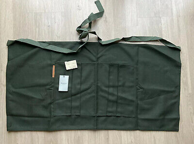 Carrier Company Gardeners Half Apron Olive Green /Made In England Norfolk/