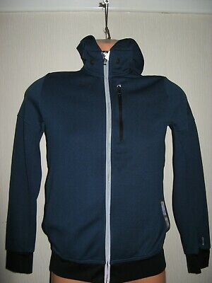 Worn Once Boys Blue Adidas Climalite Short Hooded Jacket Sports Hoodie Age 13-14