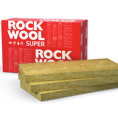ROCKWOOL Acoustic Thermal Cavity Wall Loft Insulation Slab Pack 50 100 150 200mm