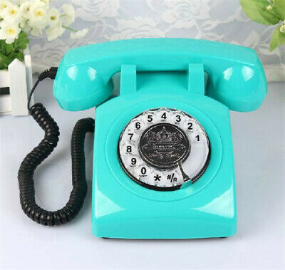 Vintage Rotary Phone Light Blue Teal Retro Telephone Collectors Gift Desk Office
