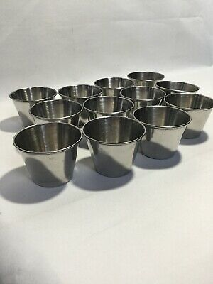 2.5 oz. Smooth Stainless Steel Round Dipper Sauce Cup - 12 Pack