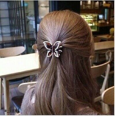 Fashion girl catching clips hairpin catching ponytail clip butterfly headwear