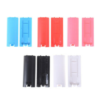 2Pcs Battery-Back Cover Shell Case for Lid Wii Remote Control Controller Whit ep