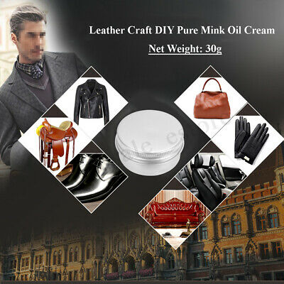 100g Leather Craft DIY Pure Mink Oil Cream For Leather Bag Shoes