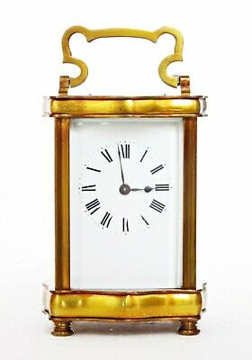 Antique French Couaillet Serpentine Carriage Clock, Working Well