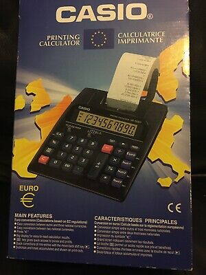 VINTAGE CASIO HR-150ER-w Printing Calculator Boxed With Instructions