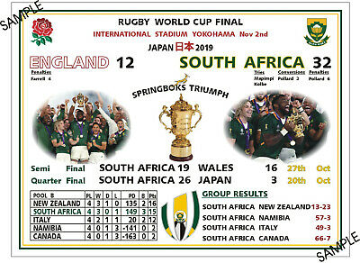 2019 Rugby World Cup Final Metal Sign South Africa Rugby Shirt Springboks Japan