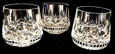 Qty 3, Waterford Crystal Lismore Roly Poly Tumbler, Hand-Cut Old Fashioned. VTG