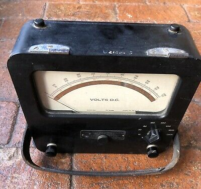 Vintage Weston model 622 DC Voltmeter ATOMIC ENERGY  1960's
