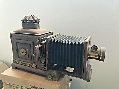 Large MAGIC LANTERN PROJECTOR - BRASS - Antique side projector 1800's