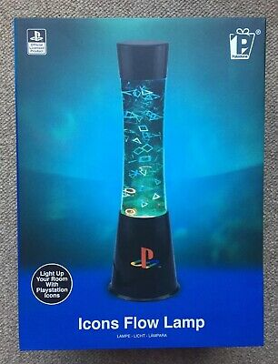 Sony Playstation Icons Flow Lava Lamp Paladone Light Official Brand New