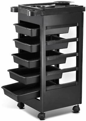 Yaheetech Hair Salon Rolling Trolley Storage Cart w/ 5-Drawer Workstation