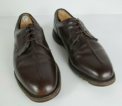 FOOTJOY Size 10.5 E Wide Mens Oxford Spikeless Golf Casual Shoes Brown Split Toe