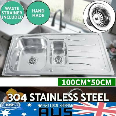 Kitchen Sink Stainless Steel Laundry Topmount /Undermount Double Bowl Basin
