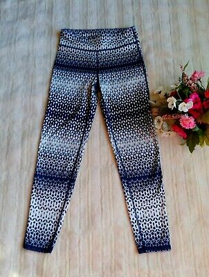 Gapfit Girls Kid Leggings Blue Ombre Color Size XL