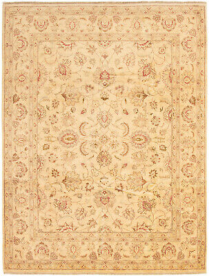 """Hand-knotted Afghan Carpet 8'2"""" x 10'5"""" Chobi Finest Traditional Wool Rug"""