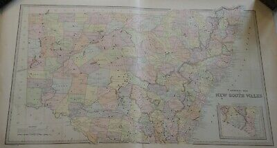 General Map Of Nsw 1888 The Picturesque Atlas Publishing Company