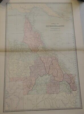 General Map Of Queensland 1888 The Picturesque Atlas Publishing Company