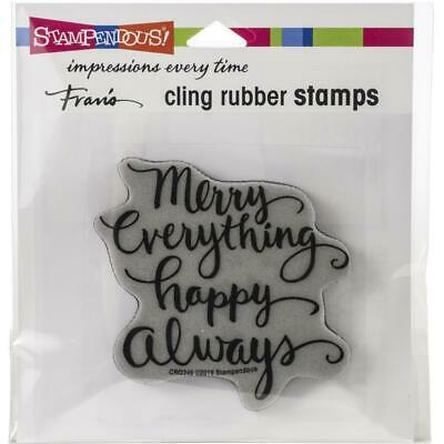 Stampendous Cling Stamp -  Merry Always