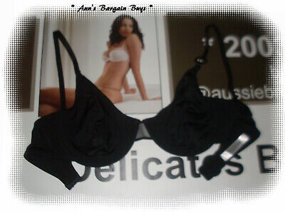 """Woman""""S-Size 14D-Soft Cup-Underwire Bra-Black-So Comfortable-Bnwt"""