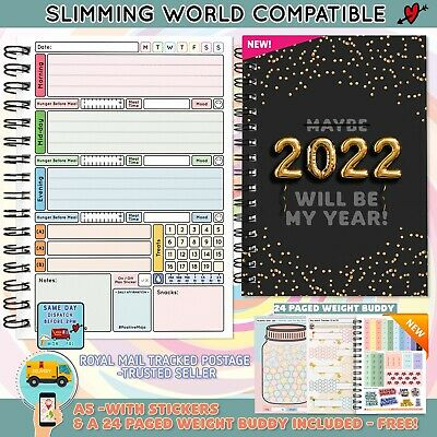 Food Diary Diet Planner Slimming World Friendly 2020 New Plan Recipe Fitness
