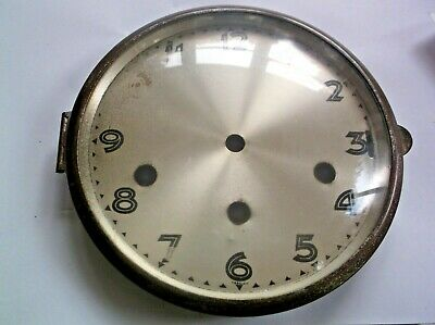 GLASS / RIM/FACE  FROM AN OLD UWS  MANTLE CLOCK  OUTER 6 1/4 INCH inch diam UWS
