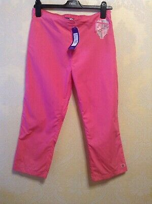 BNWT❤️ Reebok❤️ Junior XL (15-16) Girls Pink Cropped 3/4 Length Trousers Joggers