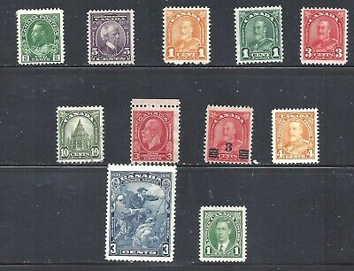 Canada Older Selection Of Mint Stamps Scott 107/231 Mogh (Bs13616A)