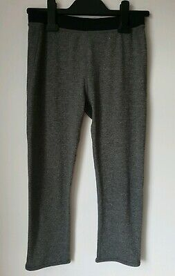 Girls Grey Sports Workout Gym Cropped Leggings From H&M 12 - 14 Years