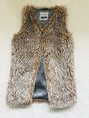 Girls Beige Faux Fur Gillet Age 4 Years From Next