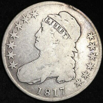 1817 Capped Bust Half Dollar CHOICE FINE FREE SHIPPING E272 KBM
