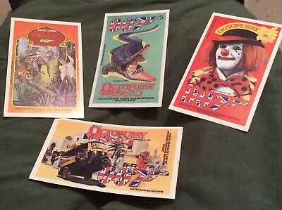 4 james bond octopussy shredded wheat cereal stickers original 1983