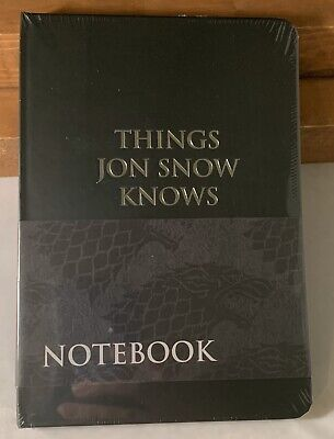 Brand New Game of Thrones Things Jon Snow Knows Notebook Culturefly Exclusive