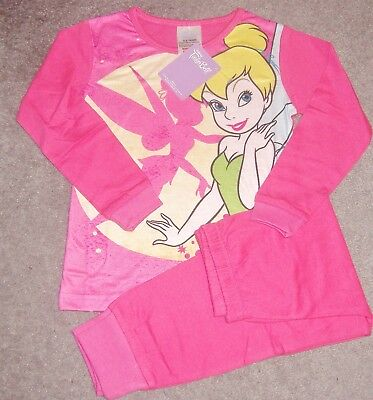 Girls Disney Fairies Tinker Bell Pyjamas In Ages 2 To 8 Bnwt