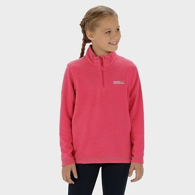 Girls hot pink fleece top jumper funnel neck half zip age 13 years new with tags