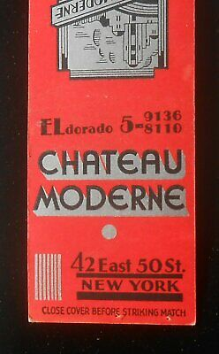 1940s Chateau Moderne 42 East 50th St. Lunch Supper 42 East 50 St. NYC NY MB