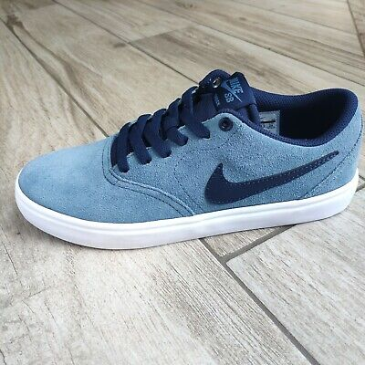 Nike SB Check Solar wmns Suede Trainers UK 4.5 Thunderstorm Blue Obsidian White