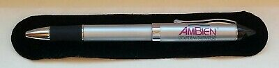 New EXTREMELY RARE Ambien METAL Stylus Tip PEN Drug Rep Pharma Velvet Case